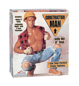 PAPUSA GONFLABILA CONSTRUCTION MAN DOLL